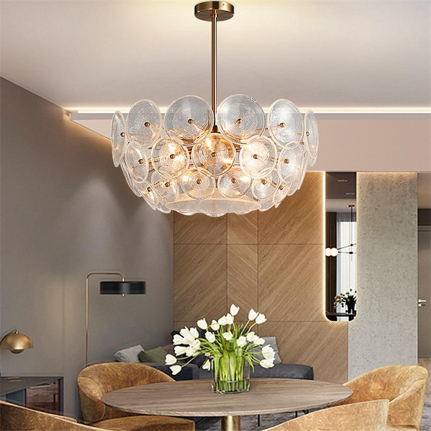 Nordic Glass Loft Led Chandelier Lighting Bedroom Living Room Restaurant Pendant Lamp Kitchen Fixtures Hanging Lamp Luminaire Pendant Lights     - title=