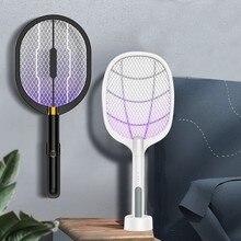 3 em 1 led mosquito assassino lâmpada 3000v elétrico bug zapper inseto assassino usb recarregável fly swatter armadilha anti mosquito moscas