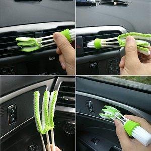 Image 5 - 10 sztuk detale samochodów zestaw szczotek miękkie naturalne włosie dzika włosy do automatycznego czyszczenia zewnętrzne wewnętrzne szczotki druciane i otworów wentylacyjnych narzędzie do czyszczenia
