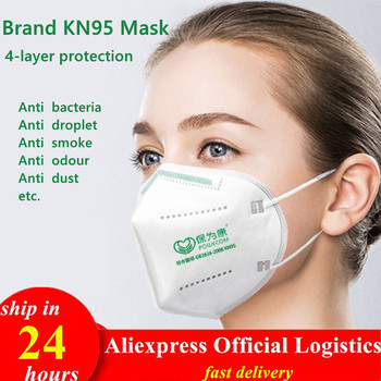 Breathable 4Layer KN95 Masks White Anti Dust KN95mask Filter KN95ffp2 PM2.5 Face Mouth Masks Ffp2mask Safety Respirator Reusable