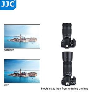 Image 4 - JJC lentes reversibles parasol para Canon EF 70 300mm f/4 5.6 IS II USM sustituye a Canon ET 74B con botón para Bloquear o liberar