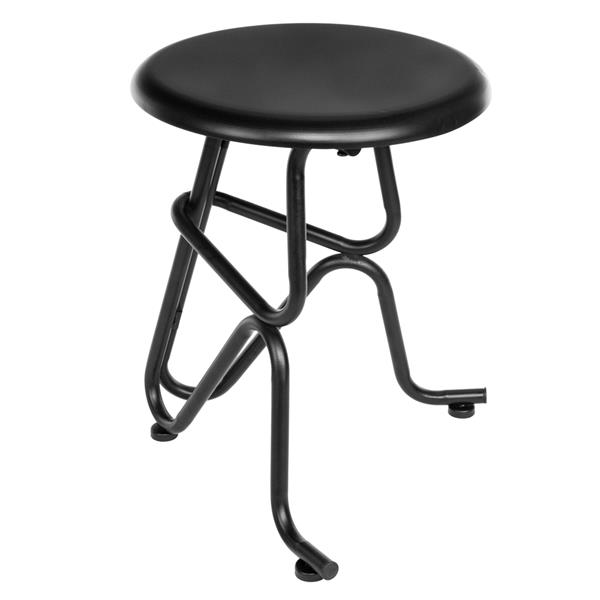 Fashion Human Shaped Non-foldable Round Iron Bar Counter Home Seat Chair Stool Black US Stock