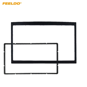 FEELDO Car Refitting Stereo DVD Frame Fascia Dash Panel Installation Kits For Peugeot 307 2DIN Radio Stereo Mounting image
