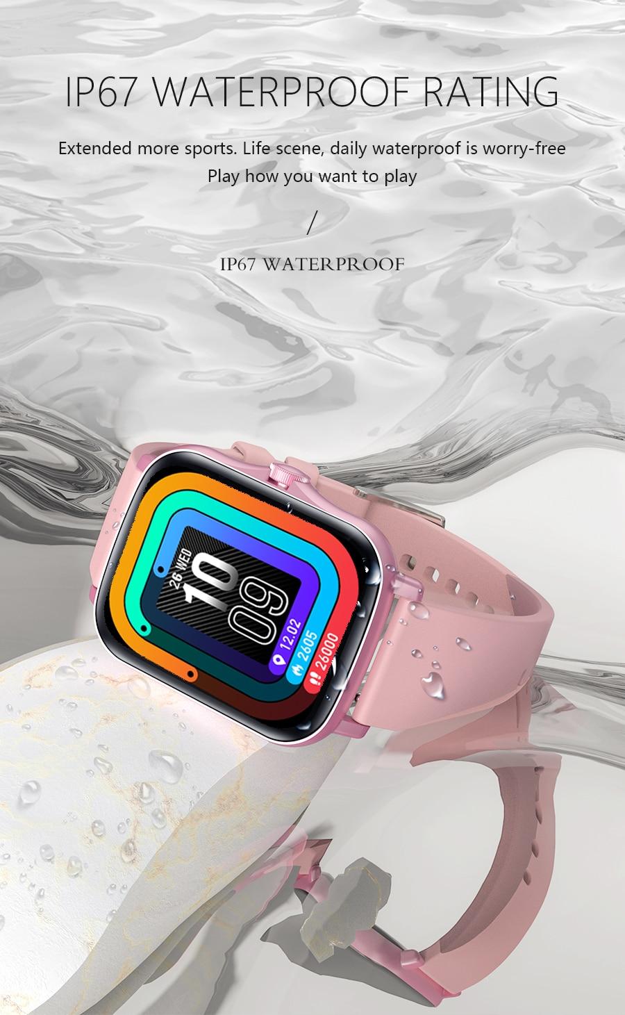 H94a9746fe4c14dc6a6ab6fee4d2747d7U Full Touch Y20 Sport Smart Watch Men Women IP68 custom dial Heart Rate Fitness Tracker Smartwatch wristwatch GTS 2 P8 plus