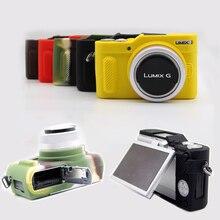 زجاجة من السيليكون قابلة للطي حافظة من الجلد الصناعي pu حقيبة كاميرا مطاطية غطاء كامل لباناسونيك Lumix GF9 GF10 GX800 GX850 GX900 GX950 حامي