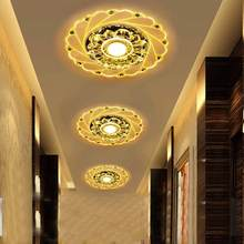 LED Crystal Ceiling Light Multicolor Circular Ceiling Lamp Luminarias Rotunda Light For Home Living Room Aisle Corridor Kitchen(China)