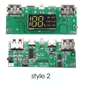 Image 3 - Dual USB Typ C Power Bank Fall DIY 4x18650 Handy 15000mAh Batterie Lagerung Box Ohne Batterie mit Smart Led anzeige