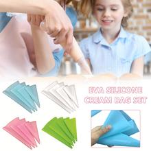 4pcs Confectionery Bag Silicone Icing Piping Cream Pastry Nozzle DIY Cake Decorating Baking Tools