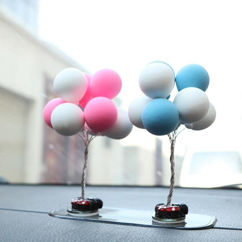 1Pcs New Fashion Creative Balloon Decoration Car Ornaments Auto Interior Accessories Decoration Birthday Gift Desk Ornaments