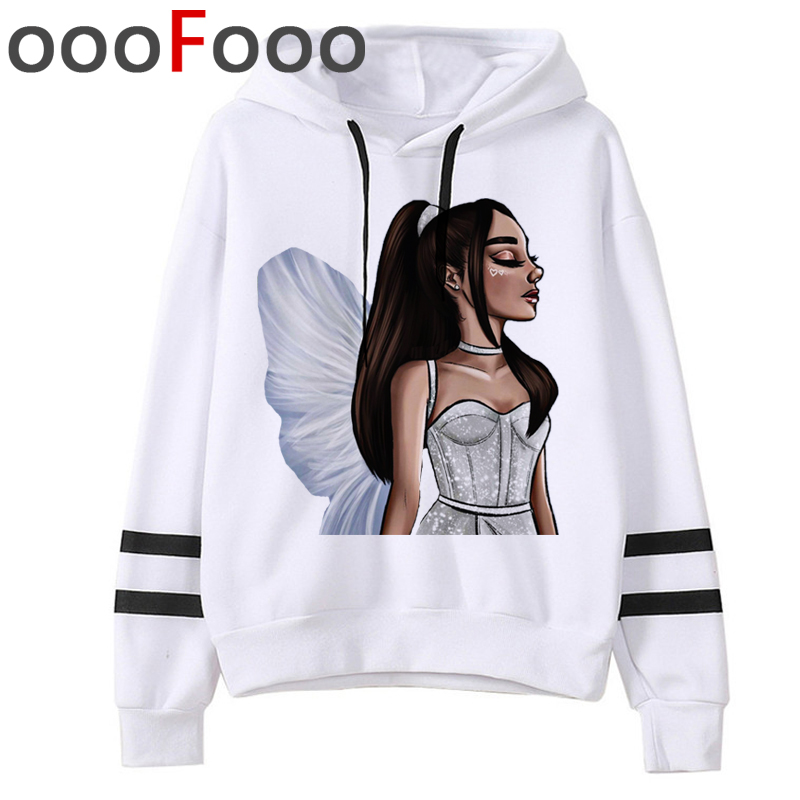 New Ariana Grande Thank You.next Harajuku Hoodies Women Warm Don't Call Me Angel Ullzang Sweatshirt 7 Rings Cartoon Hoody Female