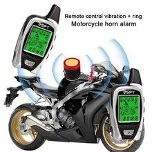 Шпионская защита от взлома мотоцикл дистанционный запуск 5000 м мотоцикл сигнализация набор Противоугонная безопасность двухсторонний микроволновый датчик звук Универсальный ABS