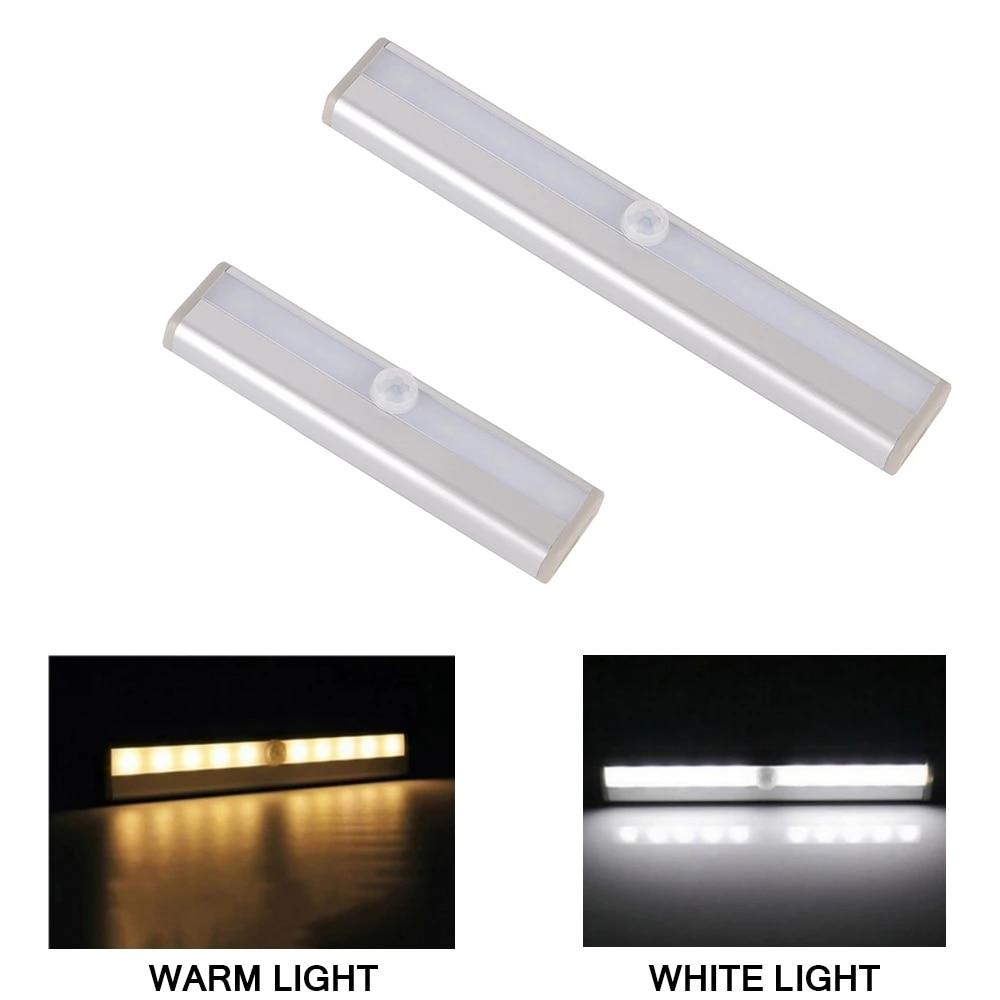 10LED PIR Motion Sensor Night Lights Wireless Wardrobe Cabinet Closet Night Lamp