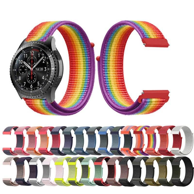 Nylon watch strap 22mm watch band for samsung gear s3 s2 for Samsung galaxy watch 46mm 42mm band sport Smart watch Accessories