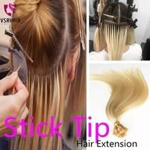Hair-Extensions Remy-Keratin 50strands Stick-Tip for Salon 40cm 50cm 60cm VSR