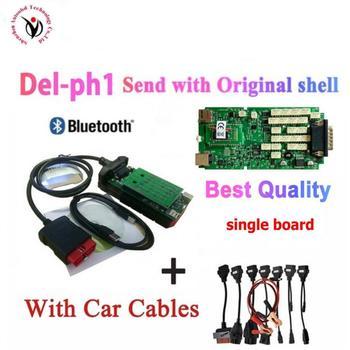 100% Original Single Green PCB vd tcs cdp pro with Bluetooth 2016.R0 keygen vd ds150e cdp for cars trucks obd2 diagnostic tool