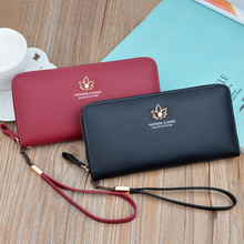 2019 New Women Wallet Long Section Zipper Large Capacity Litchi Wallet Clutch Bag Women Credit Card Bag Mobile Phone Bag