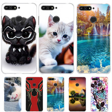 Cute Cat Bag For Huawei Y6 2018 / Y6 Prime 2018 / Enjoy 8e Case Silicon Cover Coque Funda For Huawei on Honor 7A Pro Phone Cases все цены