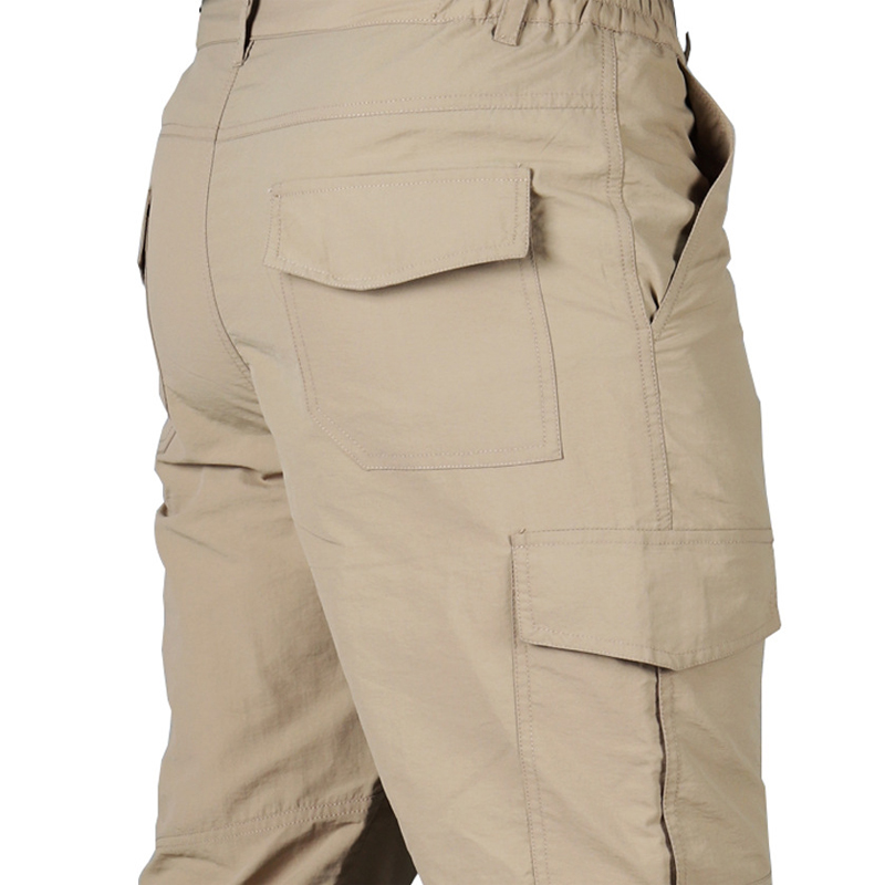 Thoshine Brand Summer Men Casual Cargo Pants Thin Pockets Outdoor Quick Dry Breathable Waterproof Military Tactical Trousers