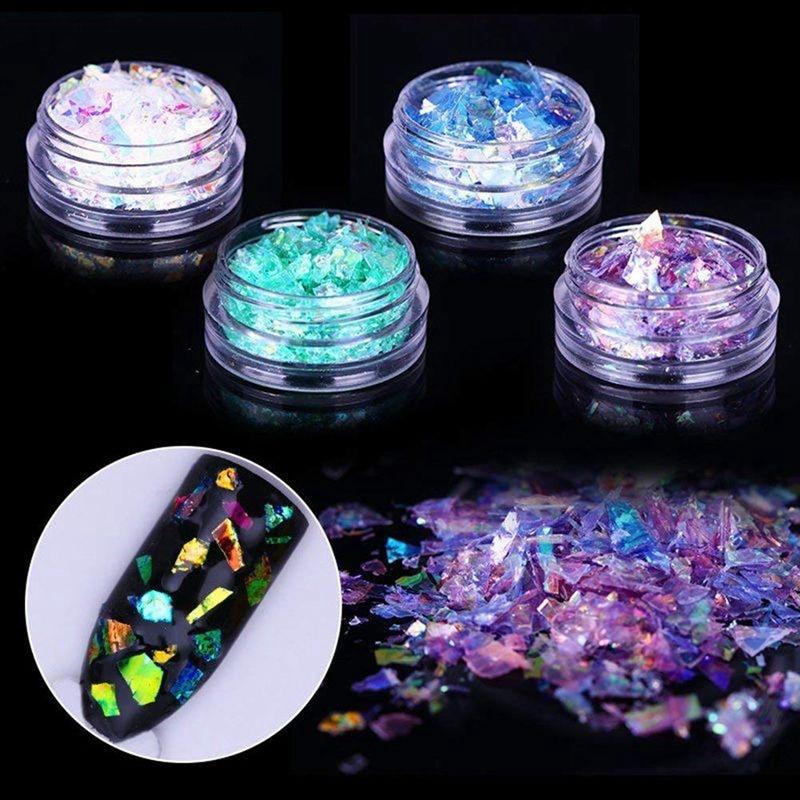 manicure cromo pigmento glitters & 1x prego um