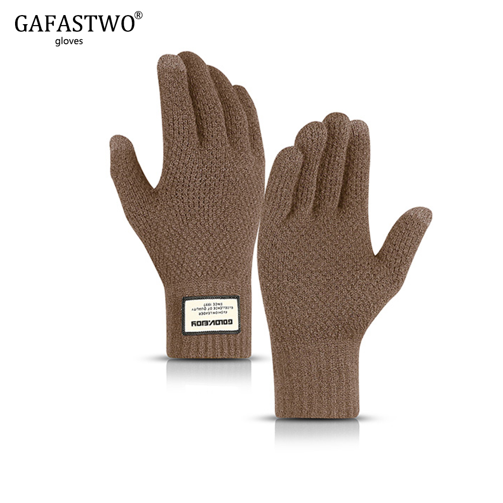 Winter Plus Velvet Warm Korean Version Of The Touch Screen Knit Gloves For Men And Women Outdoor Driving Fashion Gloves