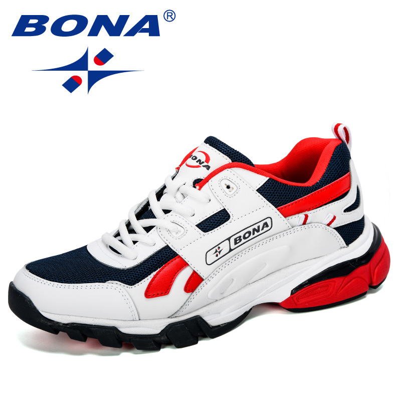 BONA 2019 New Designers Male Sneakers Running Shoes Men's Sport Shoes Outdoor Athletic Krasovki Tennis Shoes Man Jogging Shoes