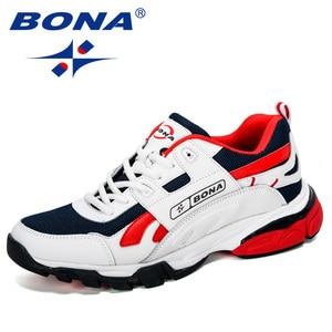 Image 1 - BONA yeni tasarımcılar erkek Sneakers koşu ayakkabıları erkek spor ayakkabılar açık atletik Krasovki tenis ayakkabıları adam koşu ayakkabıları