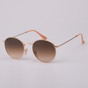 Image 5 - เลนส์ Real UV400 Retro รอบดวงอาทิตย์แว่นตาแว่นตากันแดดผู้ชายผู้หญิง Luxury designer แบรนด์ผู้หญิง oculos de SOL 3447