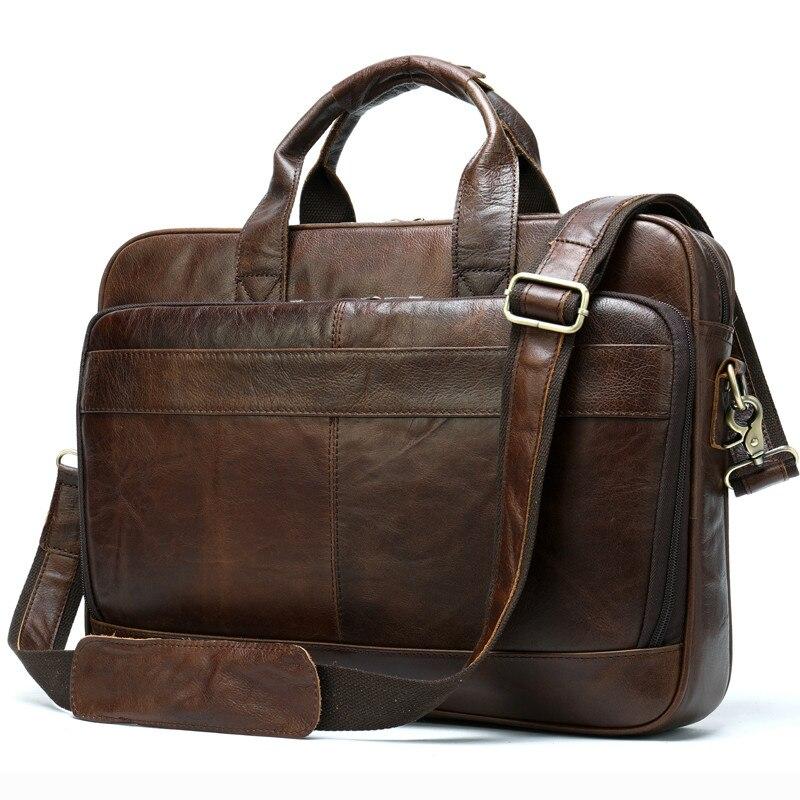 JCPAL Men's Leather Bag Men's Briefcase Office Bags For Men Bag Man's Genuine Leather Laptop Bags Male Tote Briefcase Handbag