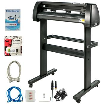 34 Inch Vinyl Cutter Plotter Machine with Stand Signmaster Software Sign Making Machine 720mm Paper Feed Vinyl Cutter Plotter
