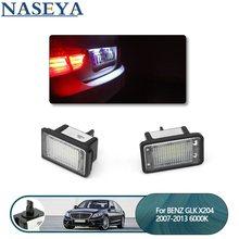 2 pces diodo emissor de luz da placa do número de licença do carro luz da cauda do automóvel de canbus do diodo emissor de luz para mercedes-benz glk x204 2007-2013