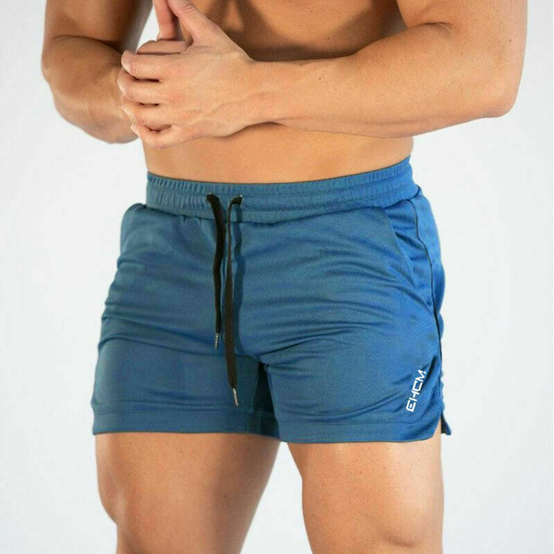 Mens Gym Training Shorts Workout Sports Casual Mesh Fitness Running Short Pants
