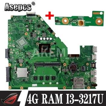 Asepcs X550CA placa base de Computadora Portátil para For Asus X550CA X550CC X550CL R510C Y581C X550C X550 prueba placa base original 4G RAM I3-3217U