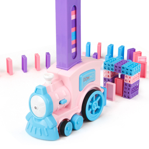 blocos de trem de domino de colocacao automatica conjunto de blocos de construcao e empilhamento