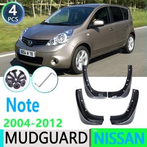 for Nissan Note 2004~2012 E11 2005 2006 2007 2008 2009 2010 2011 Car Fender Mudguard Mud Flaps Guard Splash Flap Car Accessories