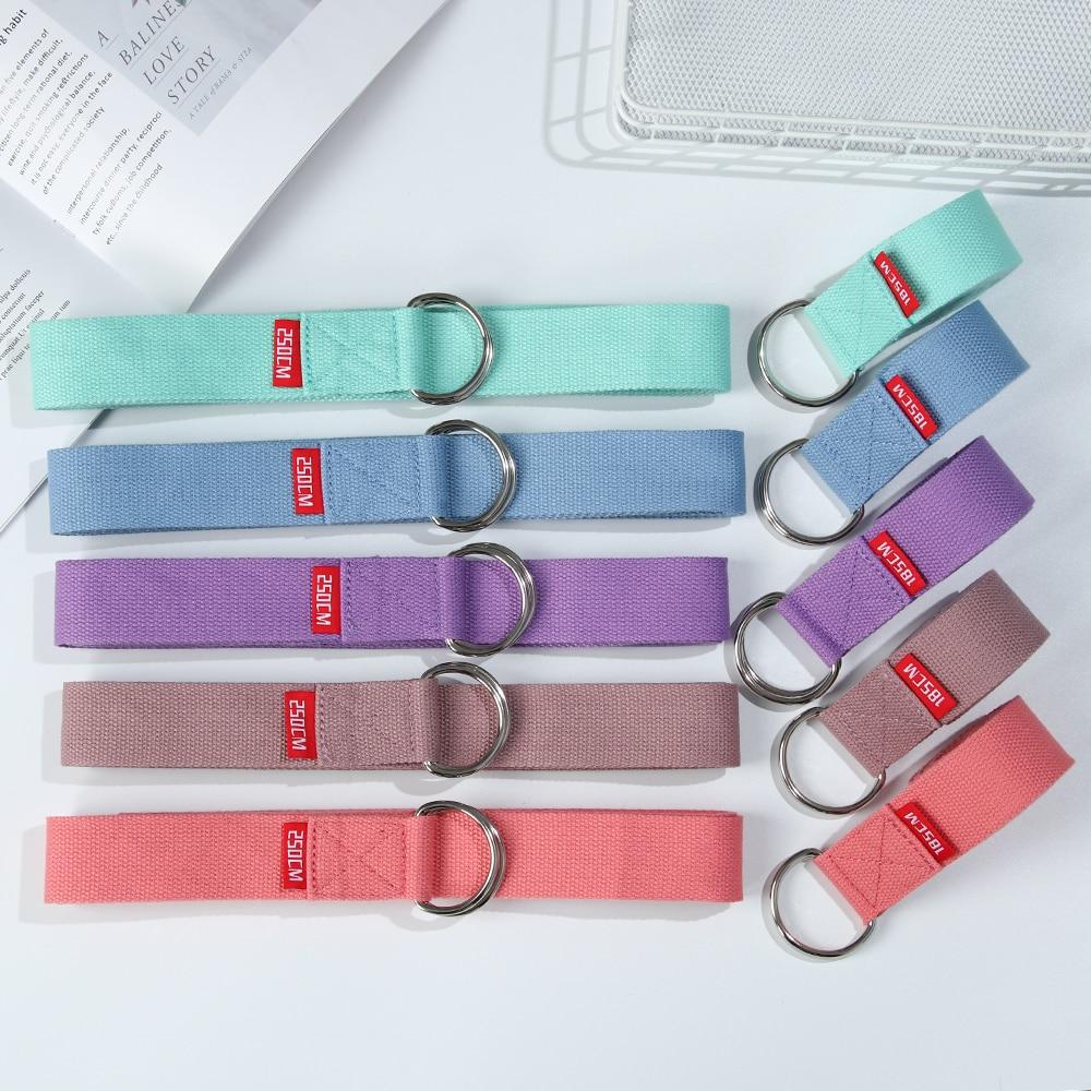 1PC 185 250cm Yoga Belt Slackline Stretch Band Yoga Strap Training Tools Flex Bar Pull Up