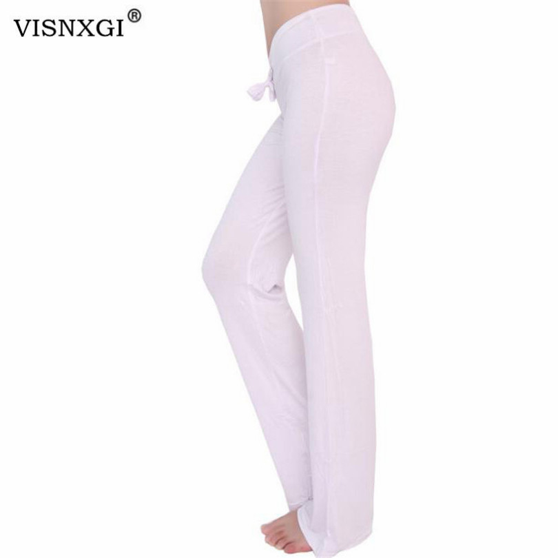 VISNXGI Summer Autumn Solid Elegant Female Lady Women's Flared   Wide     Legs     Pants   High Waist OL Ladies Long Trousers Plus Size XXXL