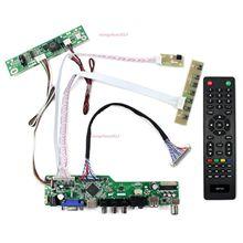 TV56 LCD LED VGA display AV USB HDMI Controller board kit DIY For 30pin HR236WU1 1920×1080  Panel screen TV free shipping 14 inch led 1920 1080 b140han01 b140han01 2 b140han01 1 lp140wf1 spk1 30pin for lenovo t440 y40 lcd led screen
