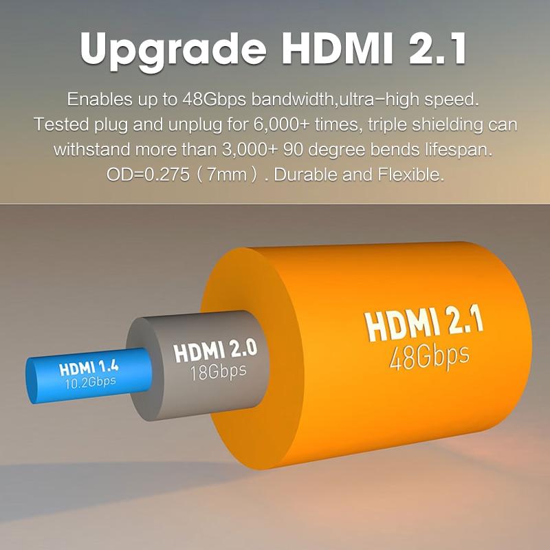 MOSHOU 8K 60Hz 4K 120Hz HDMI 2,1 кабели 48 Гбит/с ARC HDR 3D HiFi чрезвычайно тонкий видео шнур для переключения lite PS4