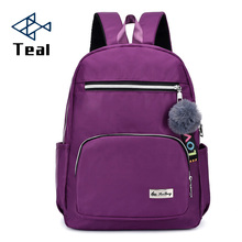 2019 New Fashion Backpack Oxford cloth Waterproof Computer outdoor leisure backpack vintage purple