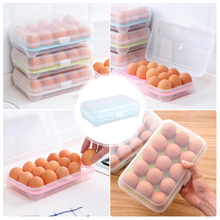 Refrigerator Storage Box Food Container Egg Storage Box 15 Grid Egg Portable Storage Boxes Plastic Box Home Kitchen Organizer недорого