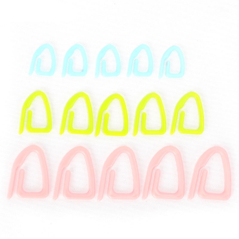 15pcs/set Silicone Stitch Markers For Crochet Hook And Knitting Needles Knitting Holder Needle DIY Weave Tools Sewing Tools