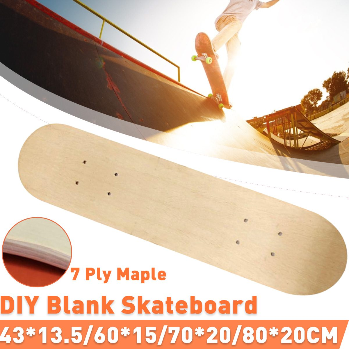 7-layer Maple Long Board Deck Skateboard Dance Board Panel Four Wheels Scooter Freestyle Road Board DIY Skate Board Deck