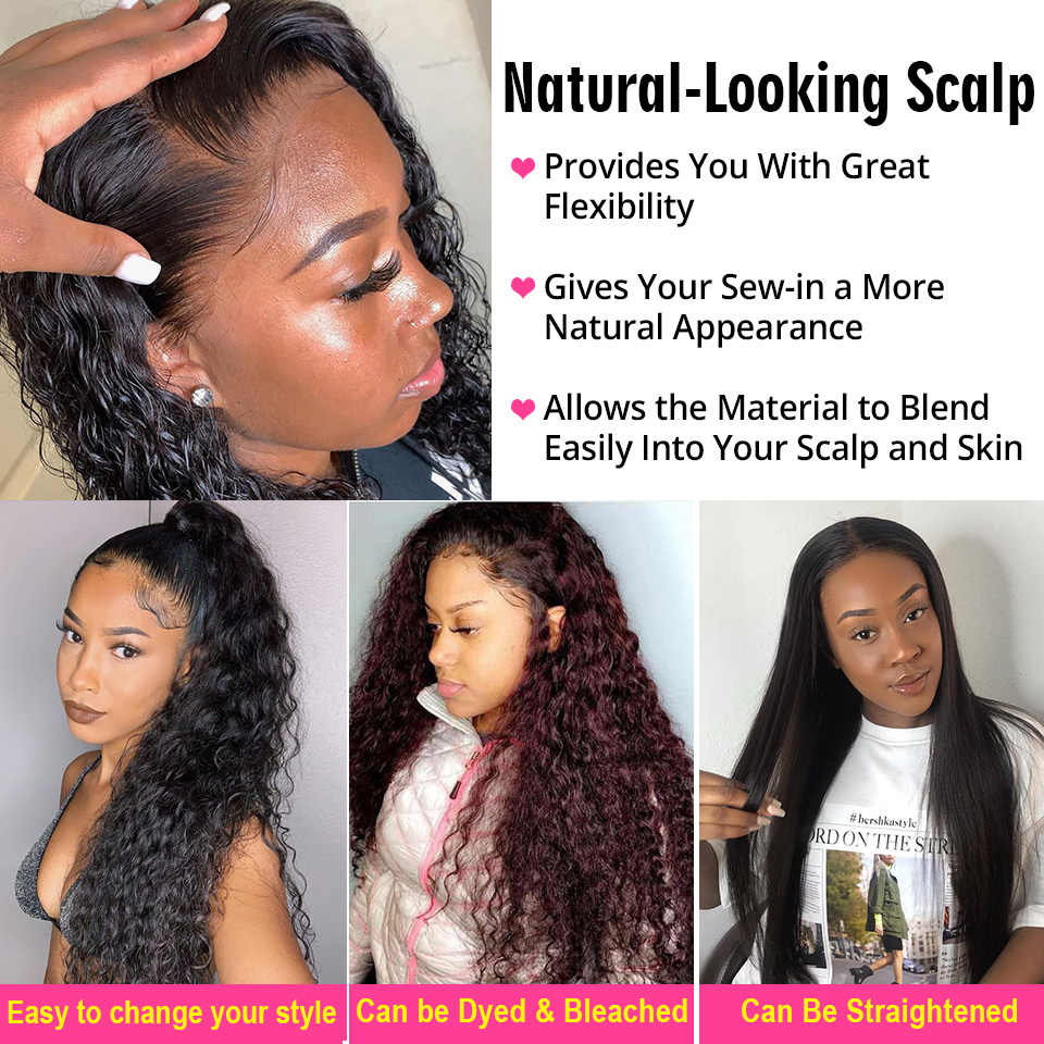 AliPearl Hair 100% Human Hair Water Wave Bundles With Frontal Brazilian Hair Weave 3 Bundles Remy Hair Extensions Natural Color