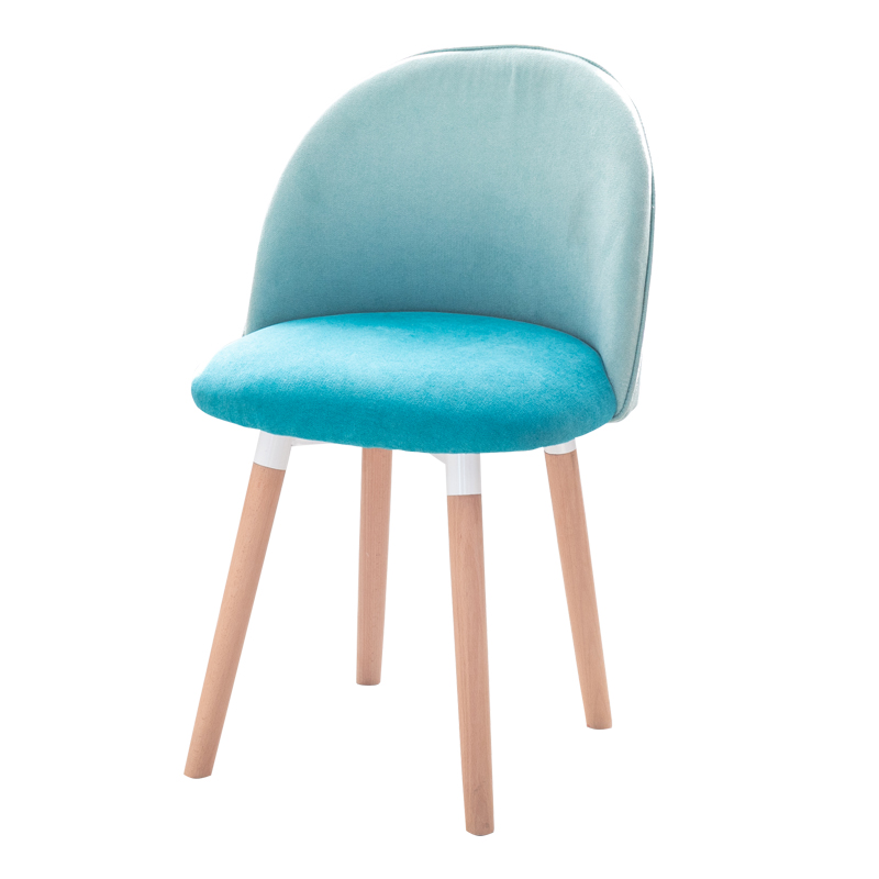 Dining chair Nordic solid wood modern minimalist creative book chair coffee chair single sofa chair home fabric back stool