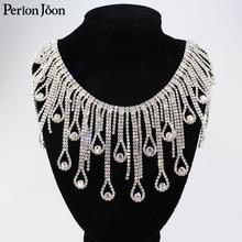 Украшение в виде капель с бахромой, серебристые кристаллы, аксессуары для одежды, 1 ярд, ML075