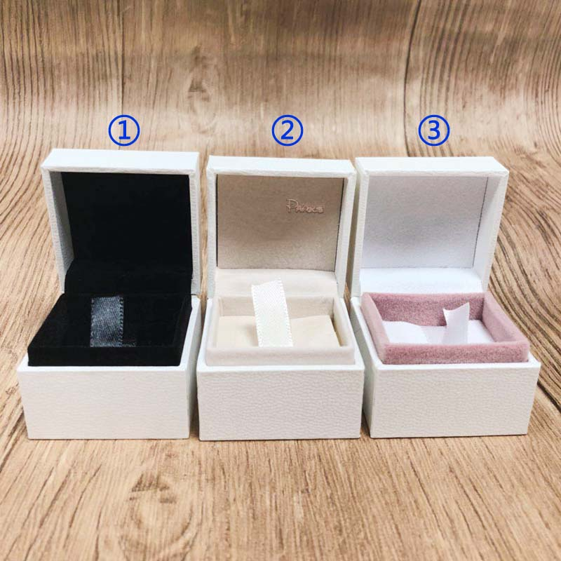 5*5*4 Cm Ring Box Packaging Paper Jewelry Display Ring Earrings Gift Velvet Box Compatible With Ring Earring DIY Europe Jewelry