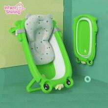 Infant Shining Baby Bath Tub Baby Shower Bathtub Newborn Safety Baby Shower Tub 0-3Y Children Folding Bathtub Infant Bath Tubset