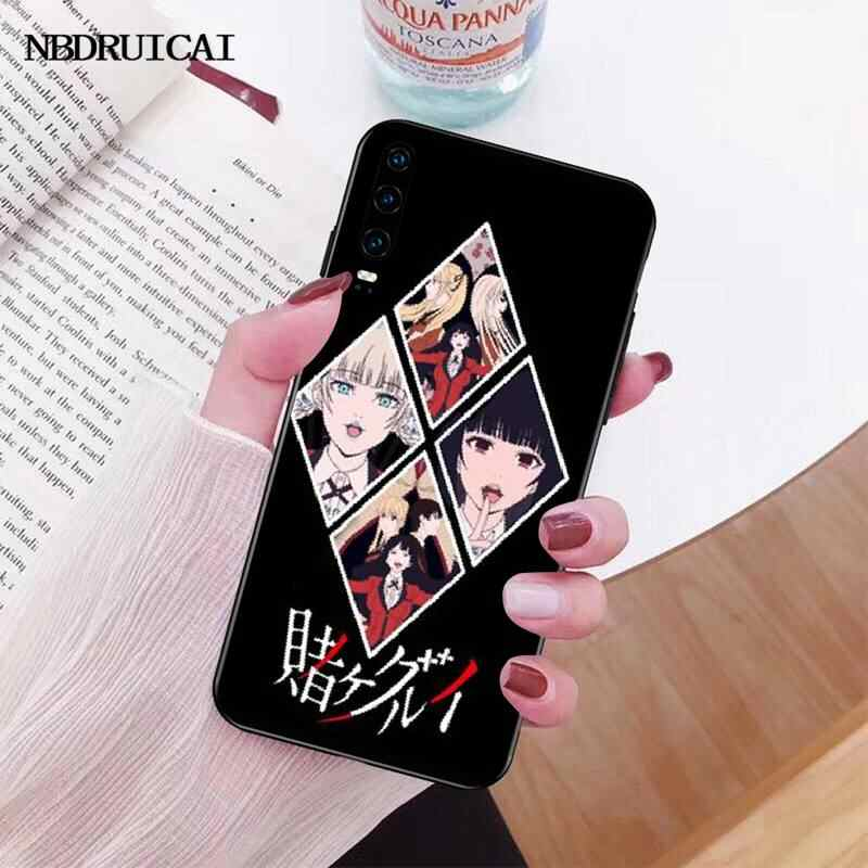 PENGHUWAN japon Anime Kakegurui Jabami Yumeko siyah yumuşak telefon kılıfı çapa için P30 P20 P10 P9 P8 Mate 20 10 Pro Lite
