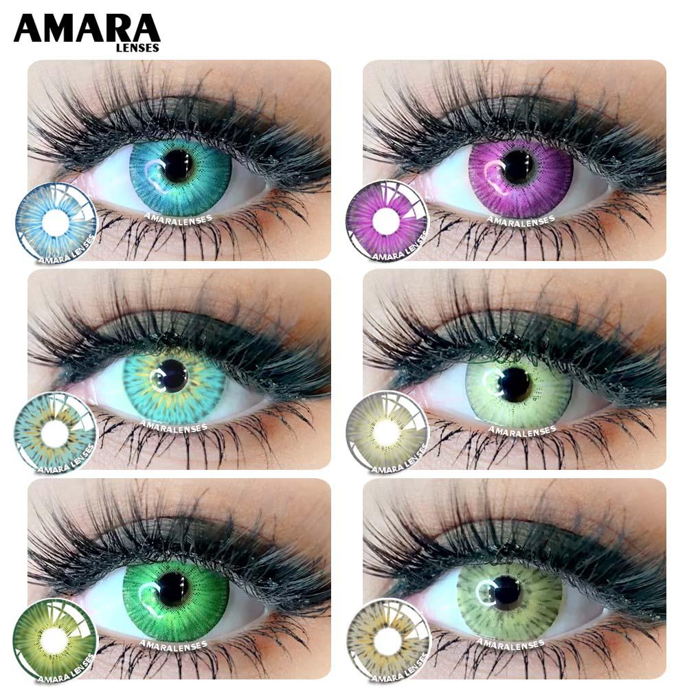 AMARA линзы 1 пара Йорк PRO Косплей цветные контактные линзы для глаз