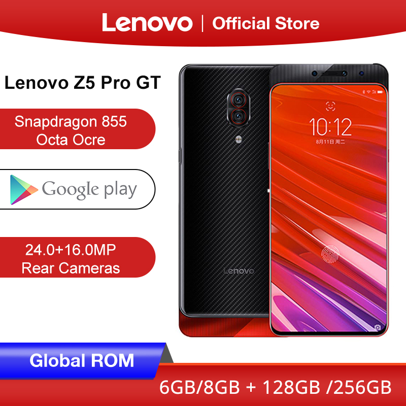Global ROM Lenovo Z5 Pro GT Snapdragon 855 Smartphone 8GB RAM 256GB 128GB ROM 6.39'' In-Screen Fingerprint 24MP
